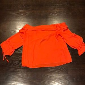 Banana republic orange strapless  top